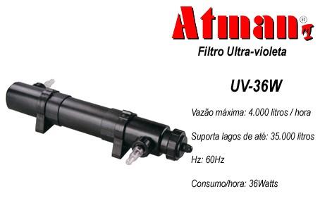 Filtro UV 36 W Atman